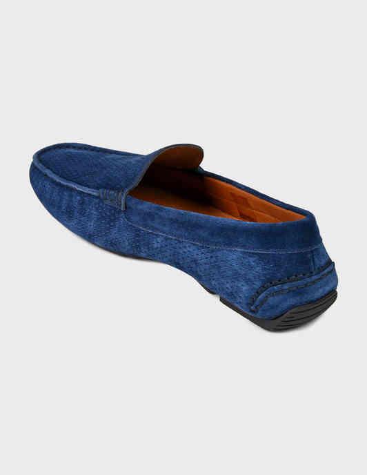 синие мужские Мокасины Fratelli Rossetti S28140-24206-blue 8044 грн