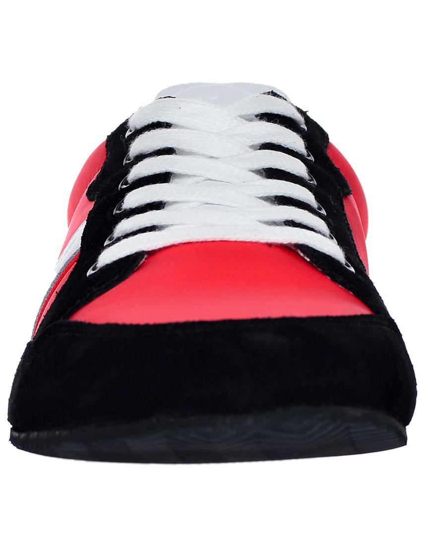 Фото 4 - мужские кроссовки  красного цвета