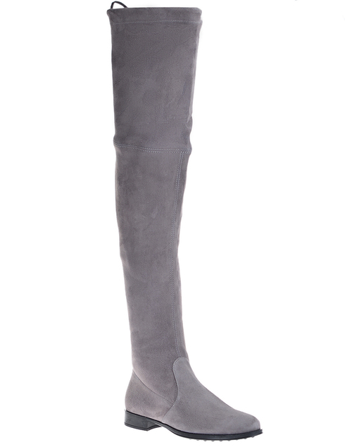 серые Ботфорты Mascaro 305_gray