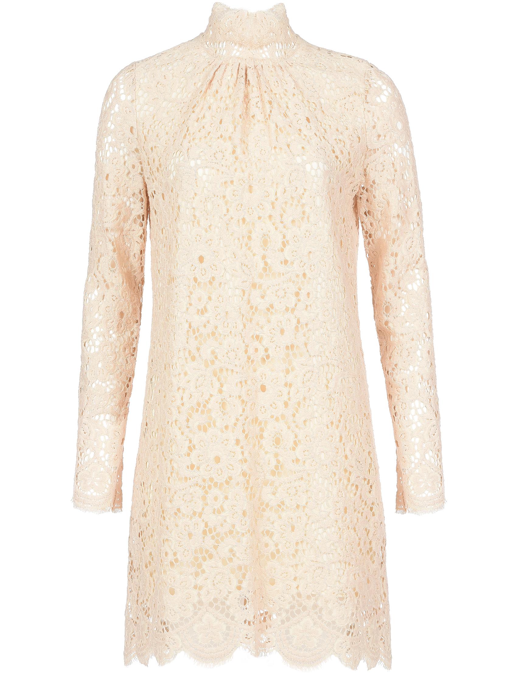 Купить Платье, TWIN-SET, Бежевый, 56%Хлопок 30%Полиамид 14%Вискоза;100%Полиэстер, Осень-Зима