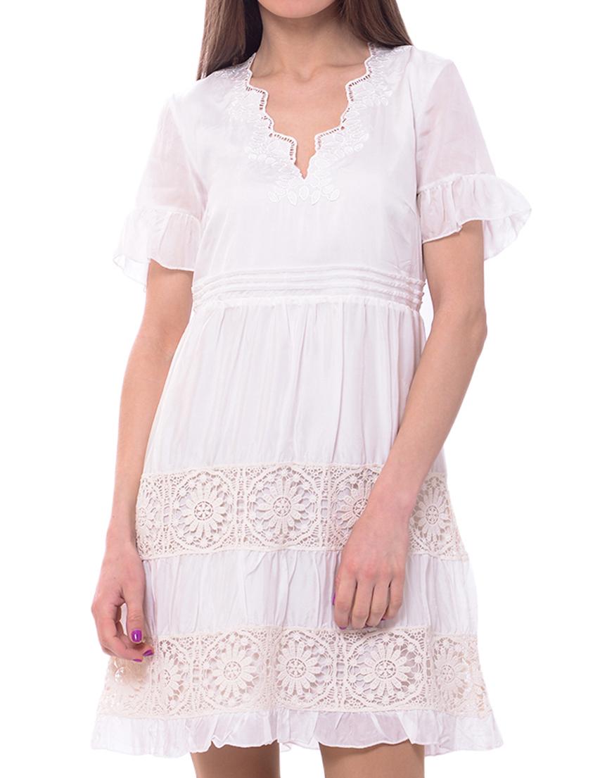Купить Платья, Платье, PATRIZIA PEPE, Белый, 100%Вискоза, Весна-Лето