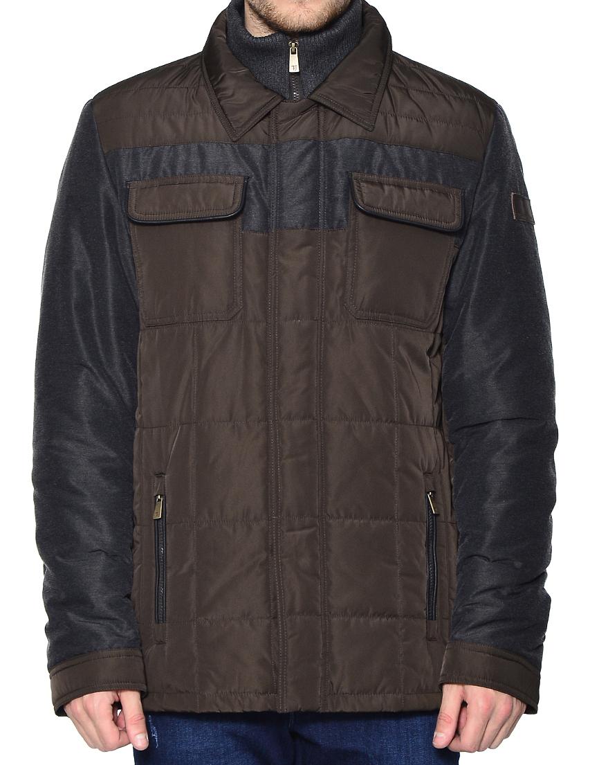 Купить Куртка, TRUSSARDI JEANS, Коричневый, 100%Полиэстер;100%Вискоза;40%Полиэстер 38%Нейлон 22%Вискоза, Осень-Зима
