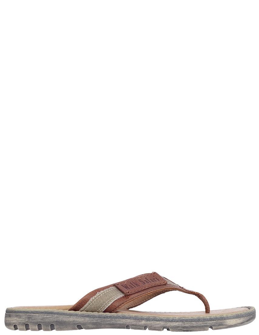 Детские шлепанцы для мальчиков Walk Safari F52243Btdm_brown