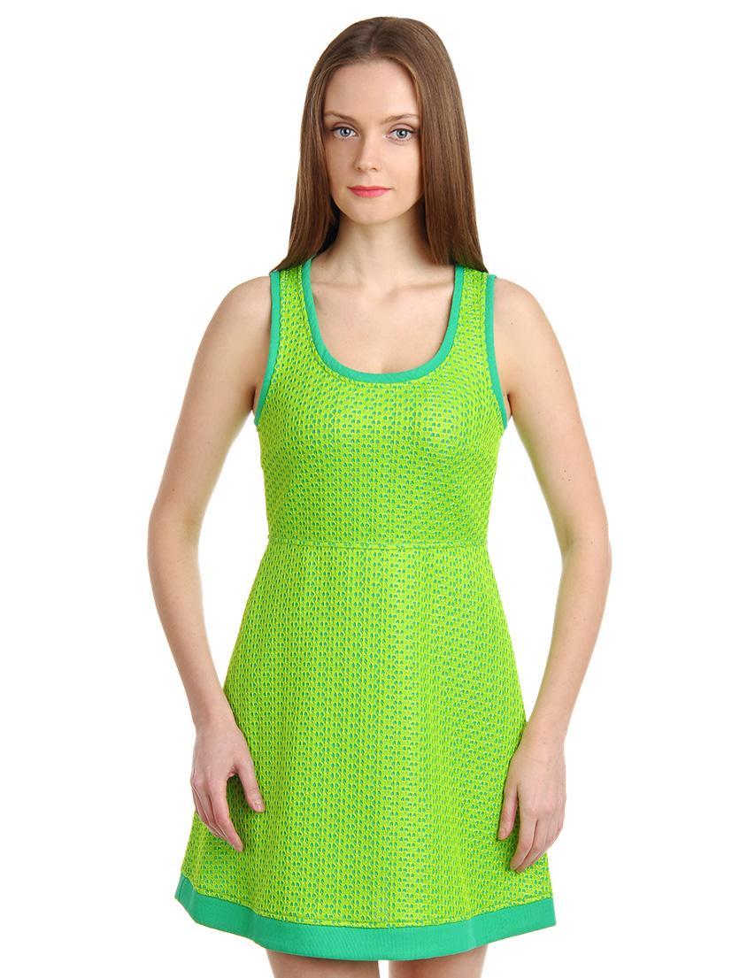 Купить Платье, PATRIZIA PEPE, Зеленый, 45%Полиамид 55%Полиэстер, Весна-Лето
