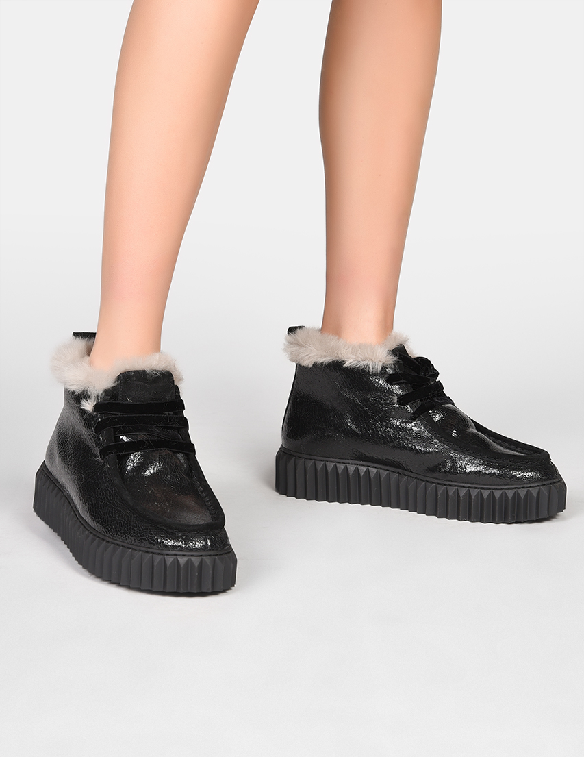 Купить Ботинки, VOILE BLANCHE, Черный, Осень-Зима