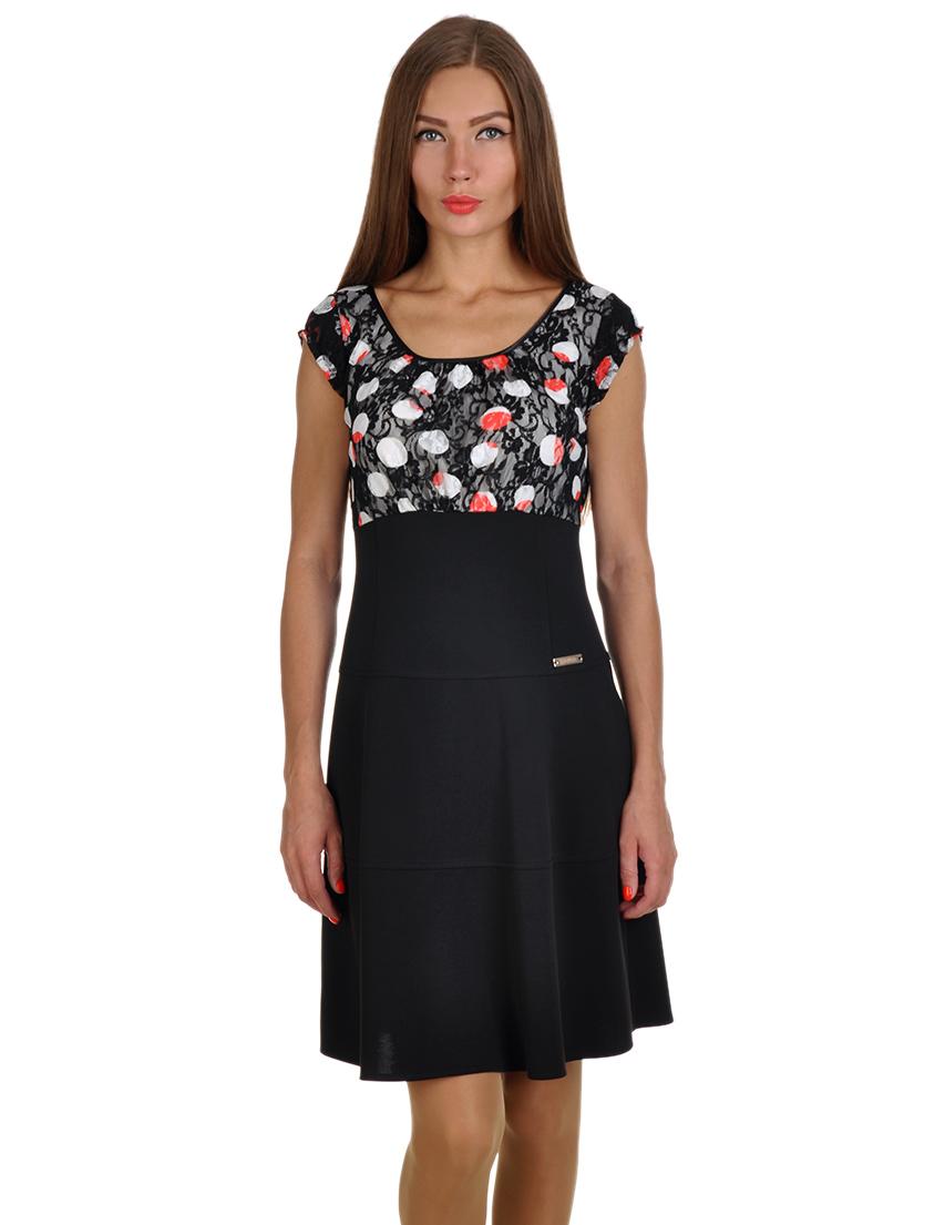 Купить Платье, ELISA LANDRI, Черный, 92%Полиамид 8%Эластан, Весна-Лето
