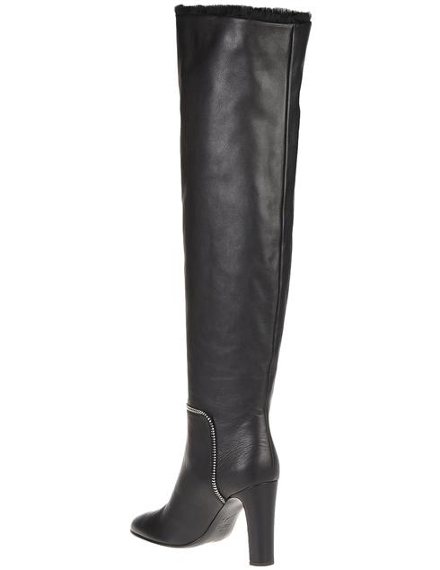 женские черные Ботфорты Giuseppe Zanotti 880030001_black - фото-2