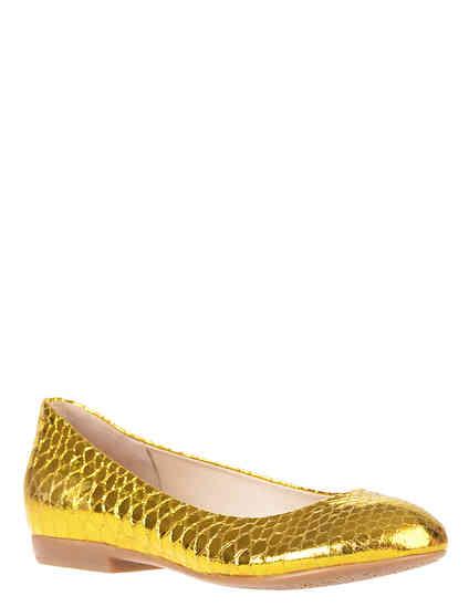 женские золотые Балетки Renzi 501112А_gold - фото-2