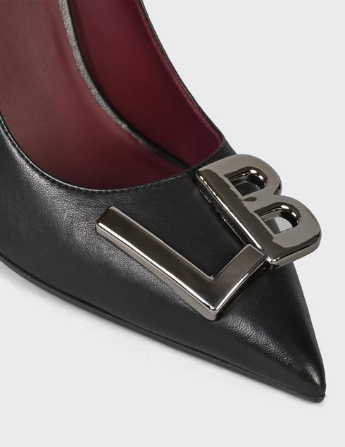 женские черные кожаные Туфли Loriblu DS1063-black - фото-5