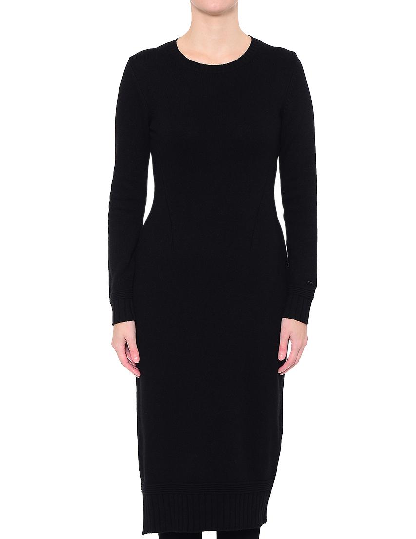 Купить Платье, ARMANI JEANS, Черный, 40%Шерсть 30%Вискоза 20%Полиамид 10%Кашемир, Осень-Зима