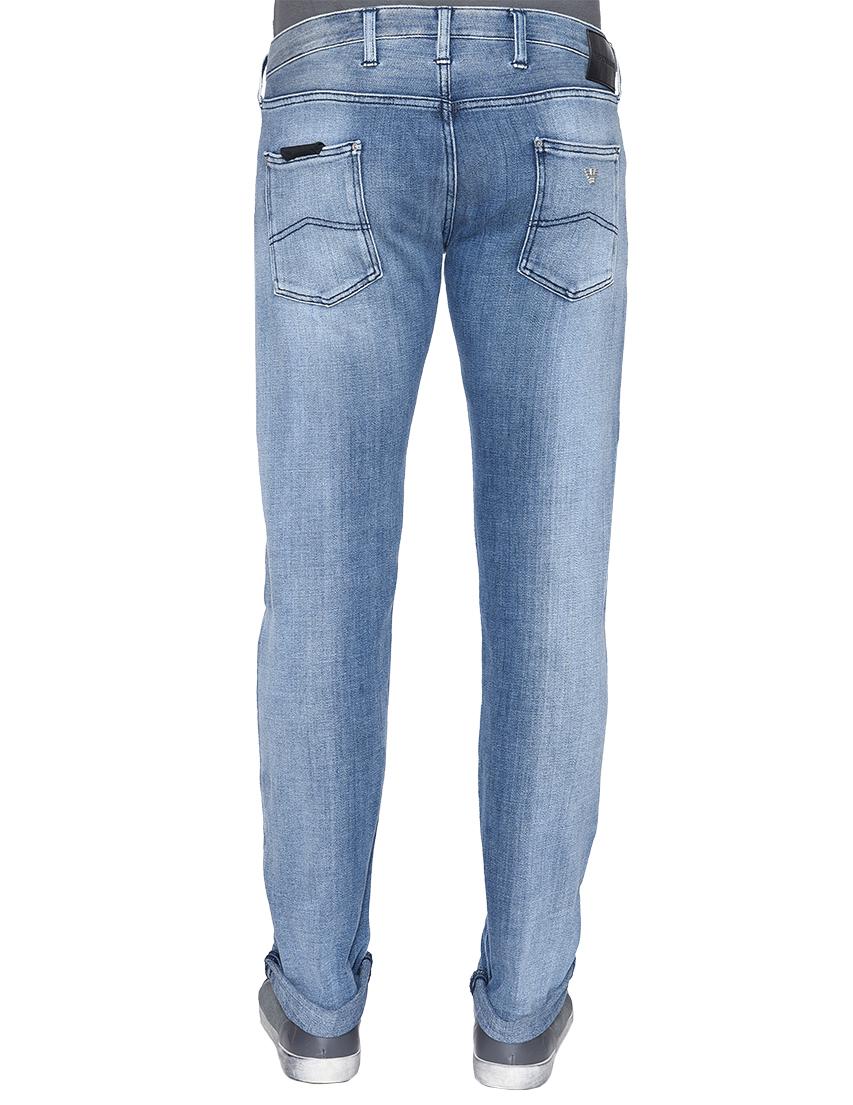 Фото 3 - мужские джинсы  голубого цвета