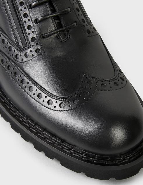 мужские черные кожаные Броги Baldinini U2B322MOOW0000 - фото-5