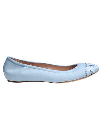голубые женские Балетки Casadei 135_blue 8624 грн