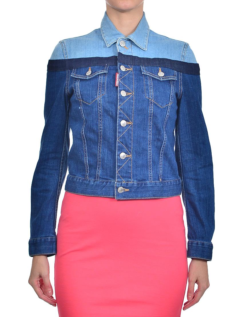 Купить Куртка, DSQUARED2, Синий, 98%Хлопок 2%Эластан, Осень-Зима