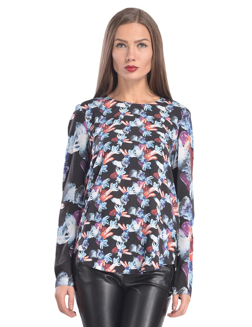 Купить Блуза, ARMANI JEANS, Многоцветный, 100%Вискоза, Осень-Зима