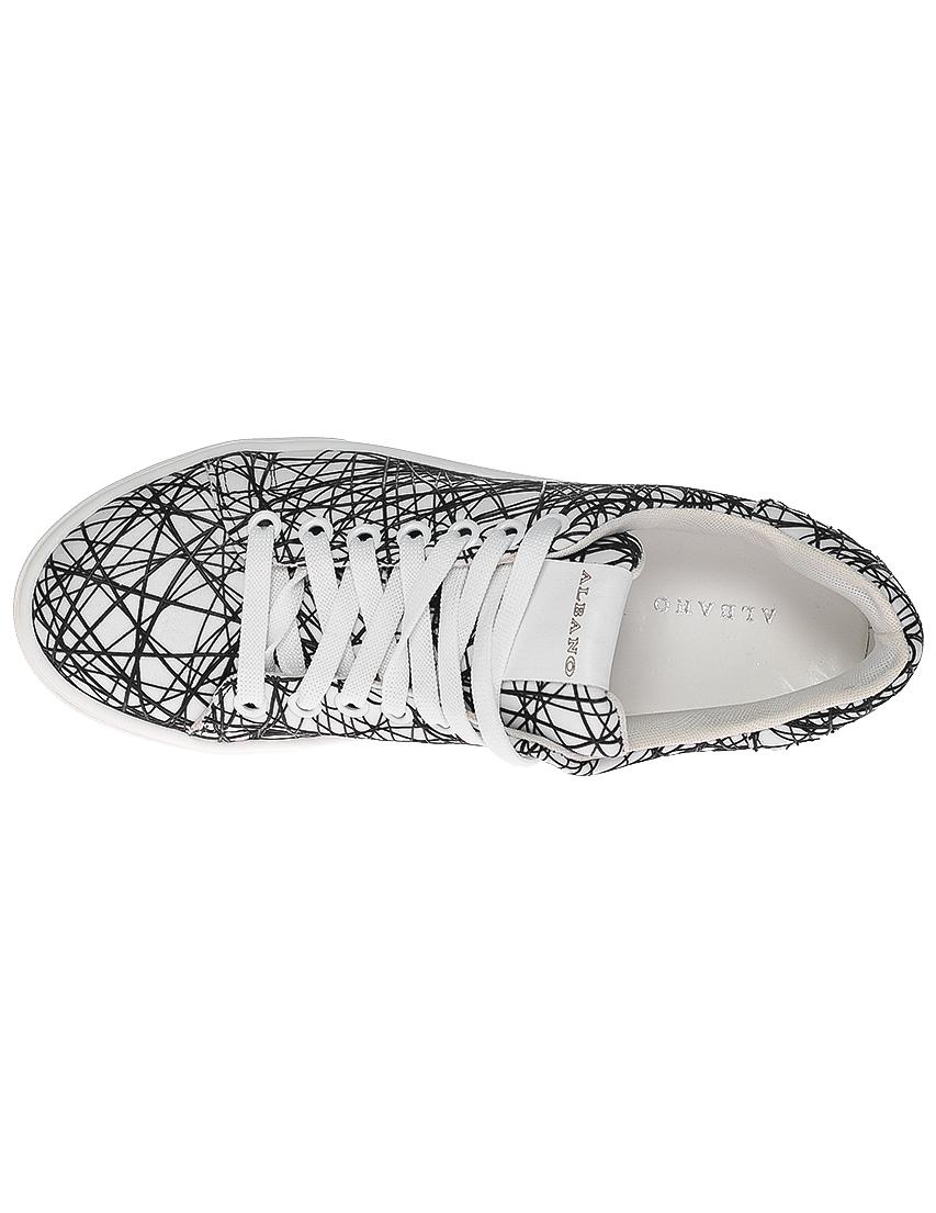Фото 5 - женские кроссовки  белого цвета