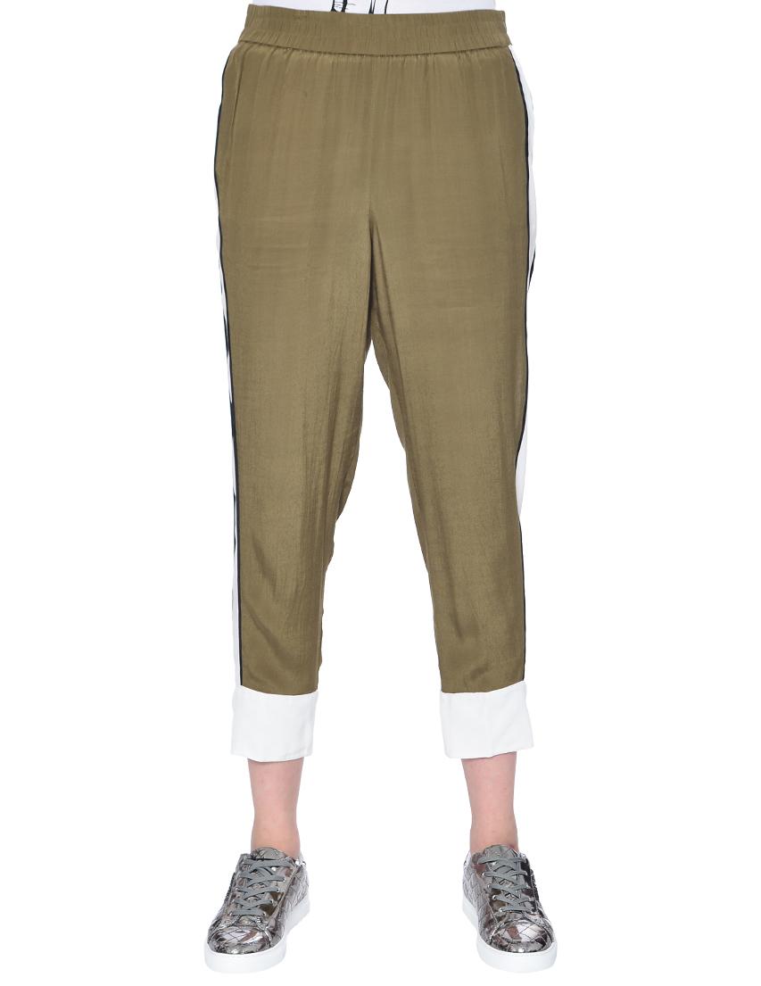 Купить Спортивные брюки, TWIN-SET, Зеленый, 100%Вискоза, Весна-Лето