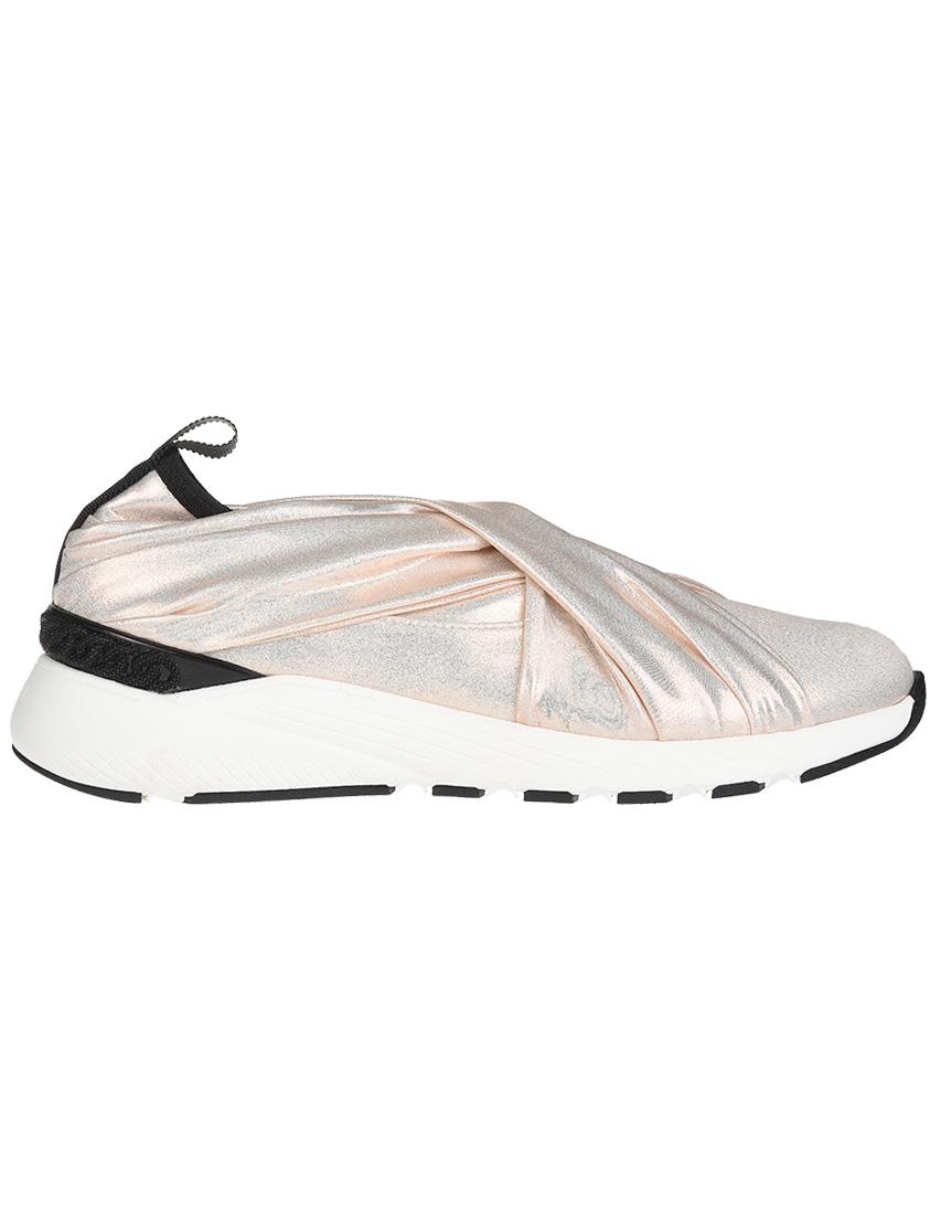 Текстильные розовые кроссовки CASADEI (ITALY)