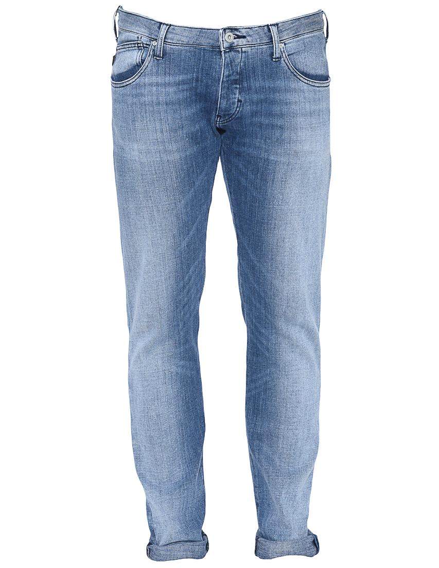 Фото 6 - мужские джинсы  голубого цвета