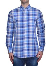 Мужская рубашка DSQUARED2 0839_blue