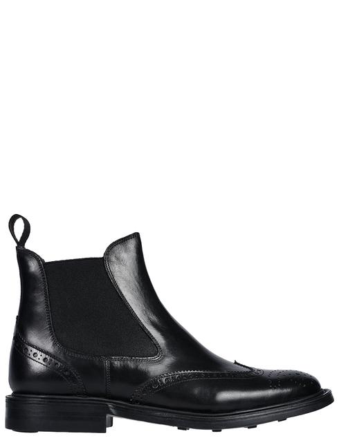 мужские черные кожаные Ботинки Brecos 9095 - фото-5