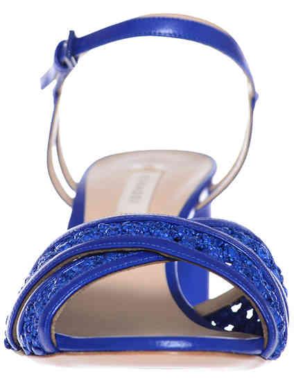 синие Босоножки Casadei 362_blue размер - 42