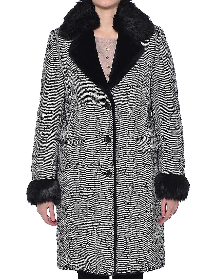 Купить Пальто, PATRIZIA PEPE, Серый, 17%Акрил 13%Шерсть 70%Полиэстер, Осень-Зима