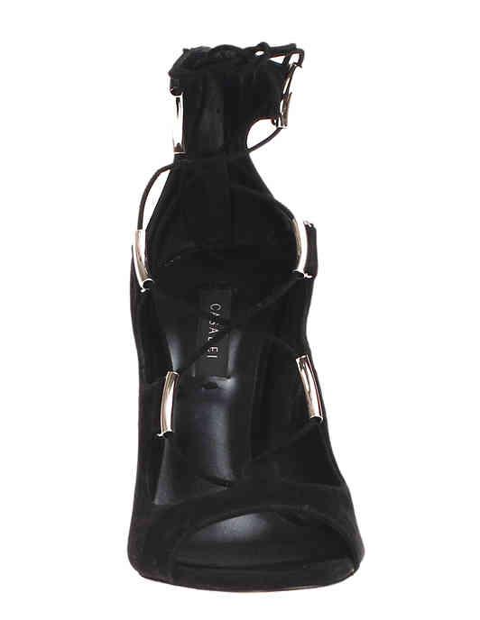 женские черные Босоножки Casadei 260_black - фото-6