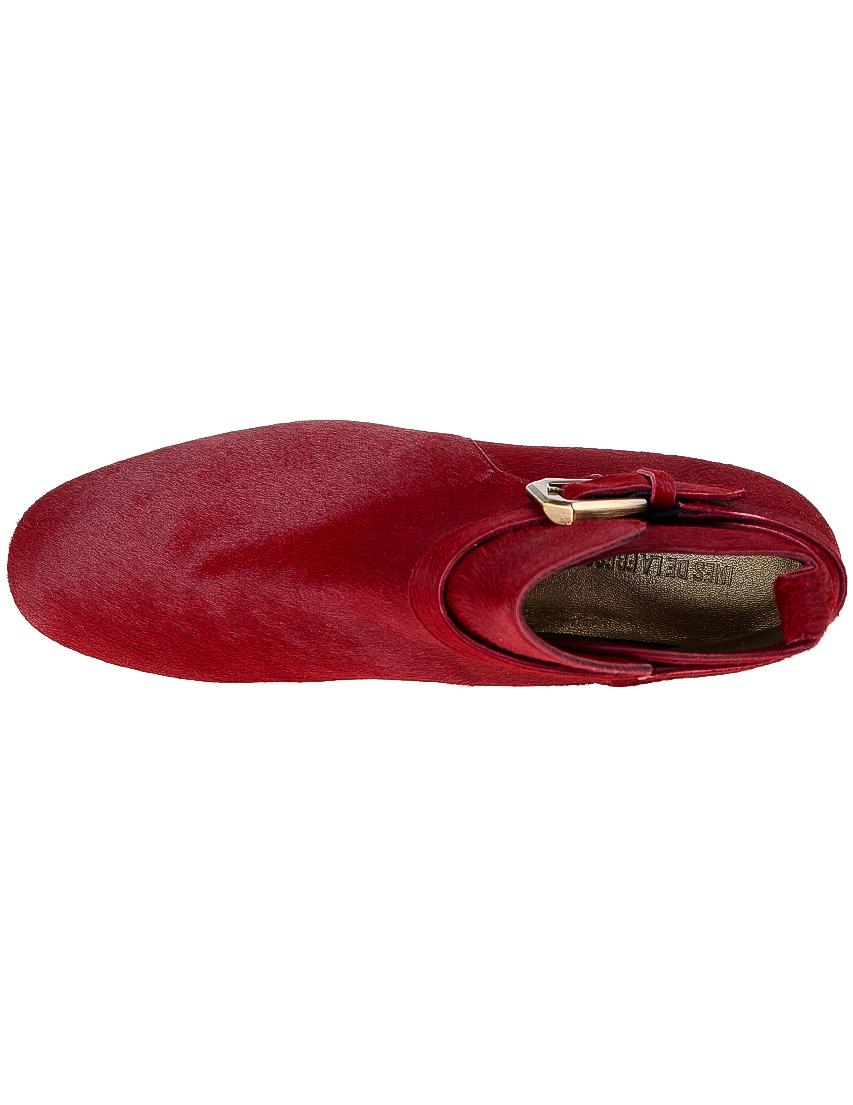 Фото 5 - женские ботинки и полуботинки  красного цвета