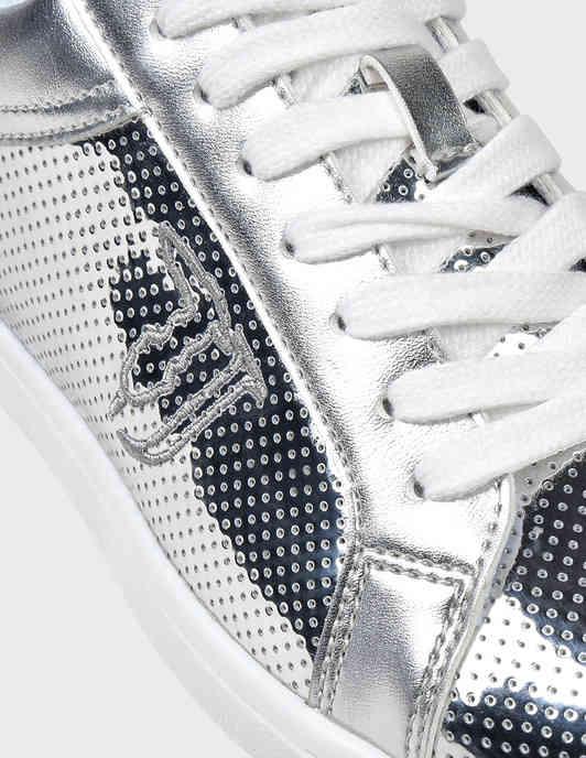 женские серебряные Кеды Trussardi Jeans 79A005289Y099998-M020 - фото-6
