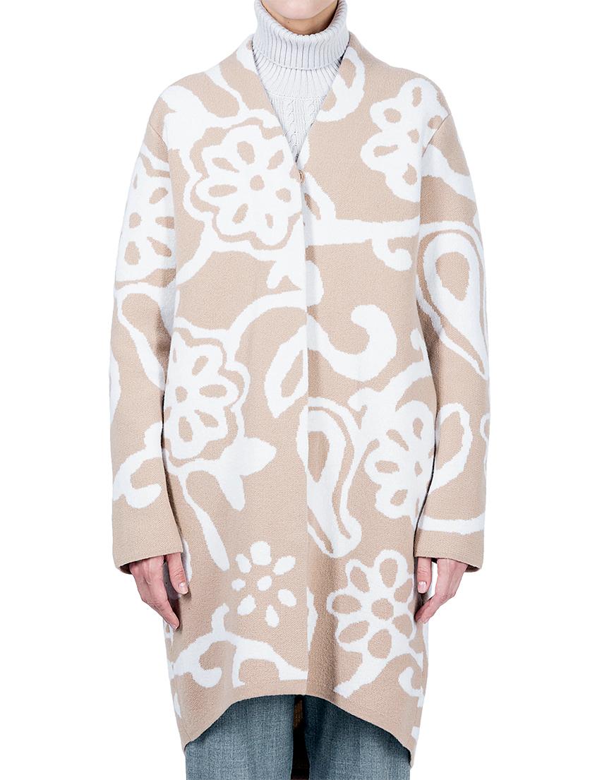Купить Пальто, MAERZ, Бежевый, Белый, 100%Шерсть, Осень-Зима