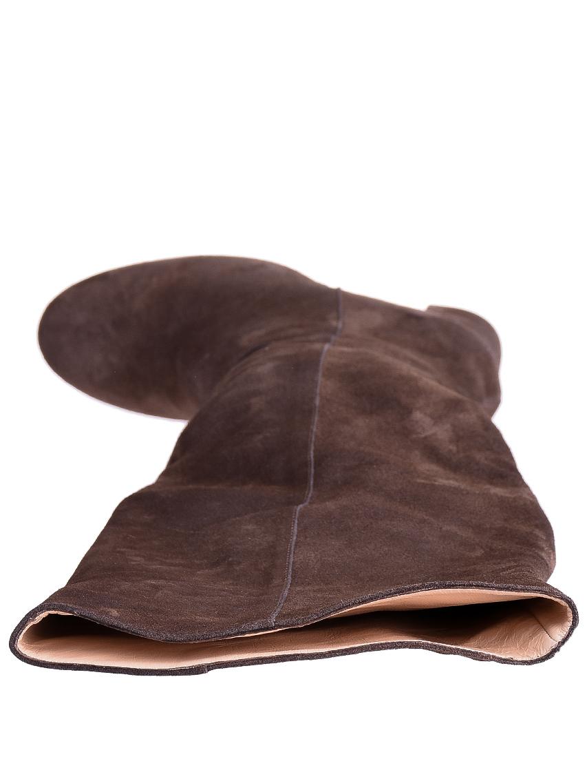 Фото 5 - женские ботфорты  коричневого цвета