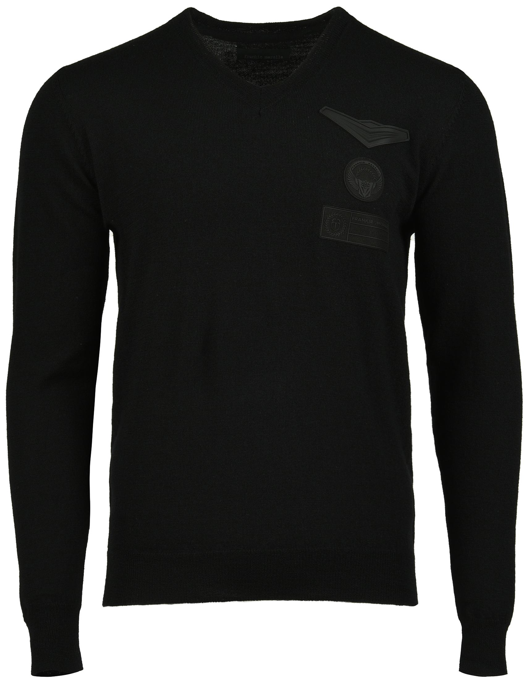 Купить Пуловер, FRANKIE MORELLO, Черный, 50%Вискоза 30%Полиэстер 20%Полиамид, Осень-Зима