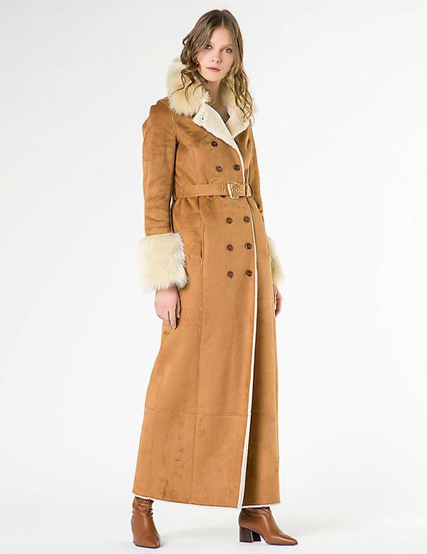 Купить Пальто, PATRIZIA PEPE, Коричневый, 80%Акрил 20%Полиэстер, Осень-Зима