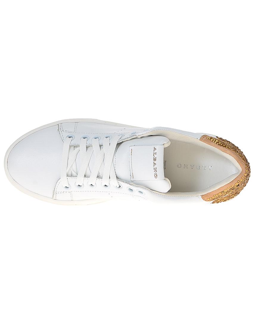 Фото 6 - женские кроссовки  белого цвета