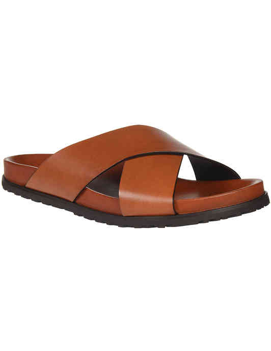 мужские коричневые Шлепанцы Saint Laurent Paris 502090-7660_brown - фото-2