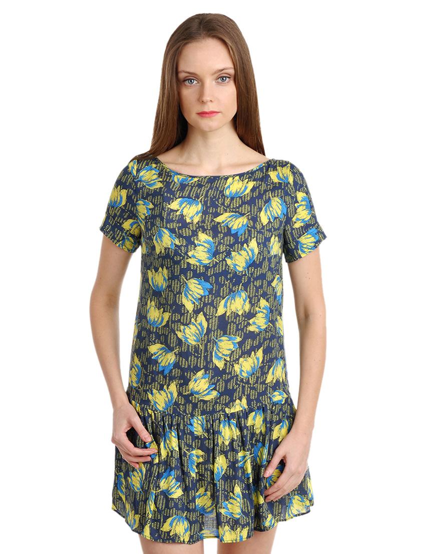 Купить Платья, Платье, PATRIZIA PEPE, Многоцветный, 100%Вискоза, Весна-Лето