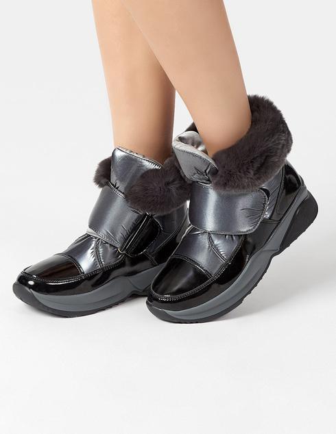 серебряные Ботинки Jog Dog 1608