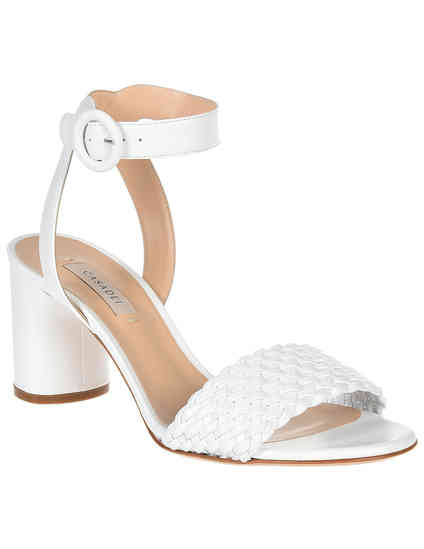 женские белые Босоножки Casadei AGR-1L306_white - фото-2