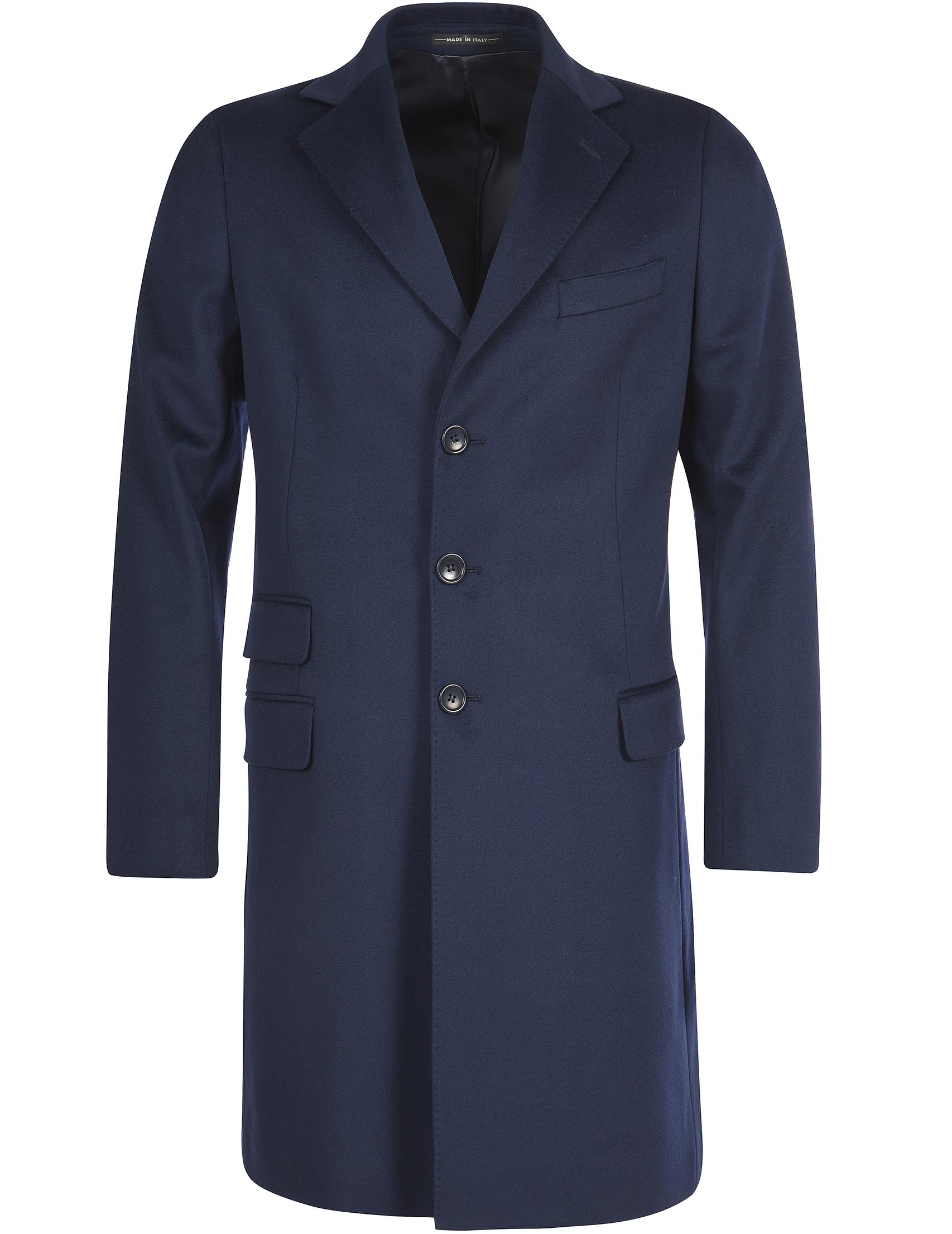Купить Пальто, LORO PIANA, Синий, 100%Шерсть, Осень-Зима