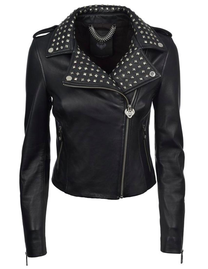 Купить Куртка, FRANKIE MORELLO, Черный, 100%Кожа;100%Хлопок, Весна-Лето