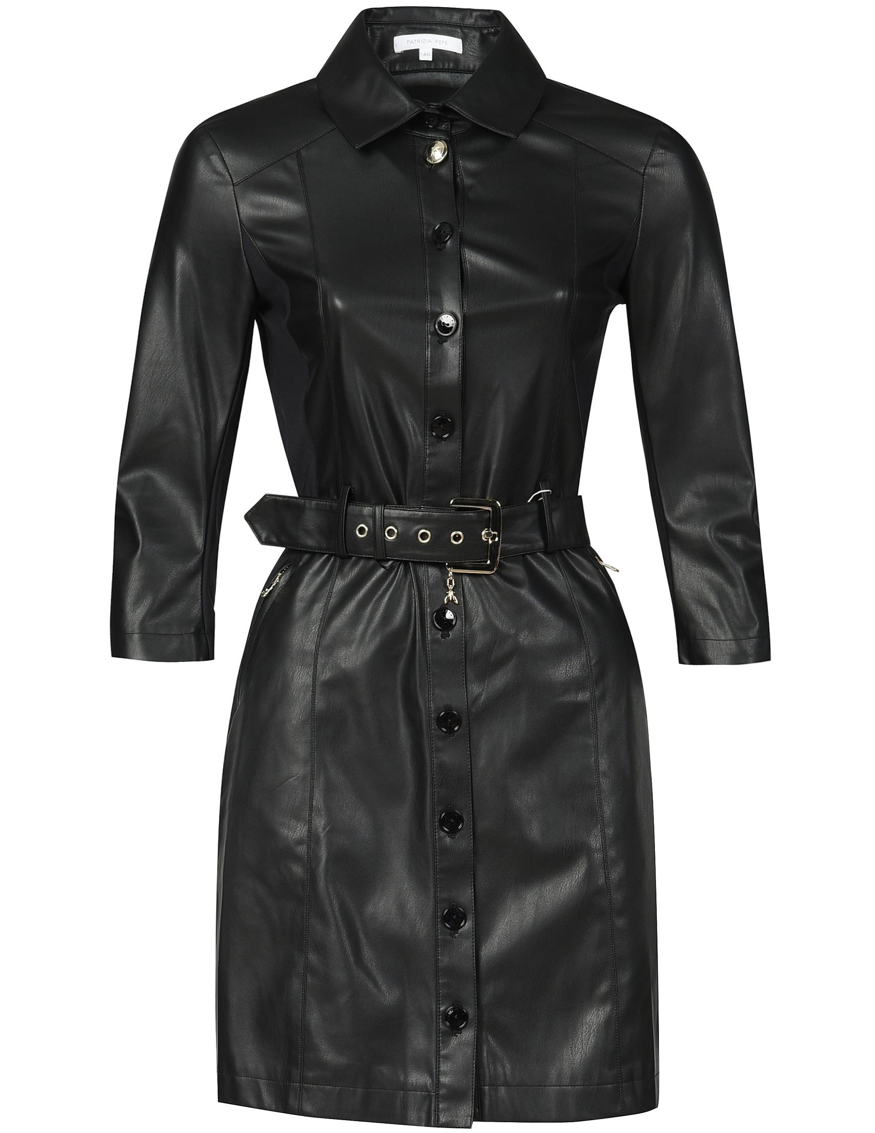 Купить Платья, Платье, PATRIZIA PEPE, Черный, 100%Экокожа, Осень-Зима