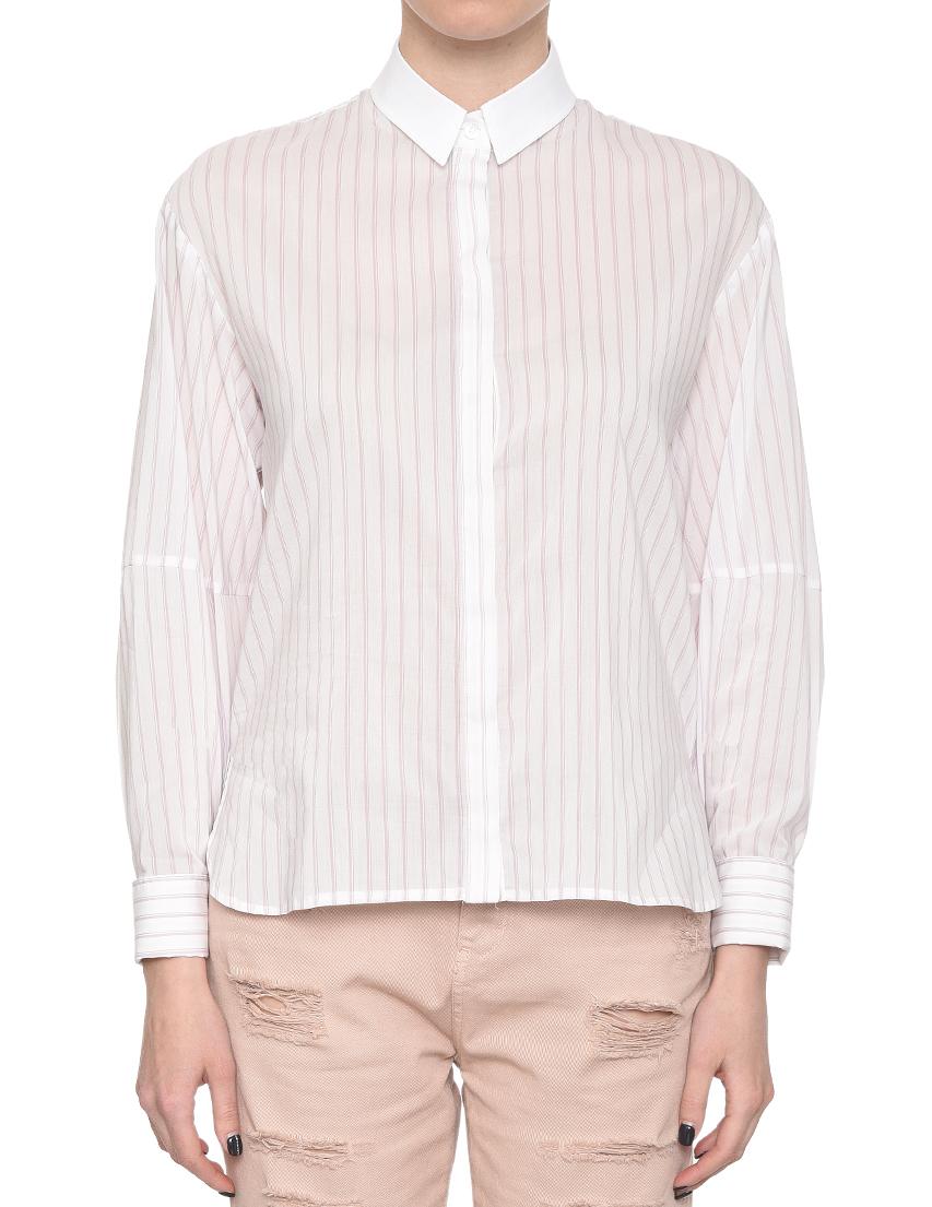 Купить Рубашка, PATRIZIA PEPE, Белый, 67%Хлопок 6%Эластан 27%Полиамид, Весна-Лето