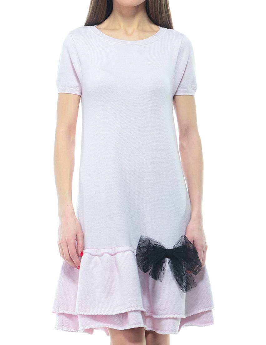 Купить Платье, RED VALENTINO, Розовый, 100%Шерсть, Осень-Зима