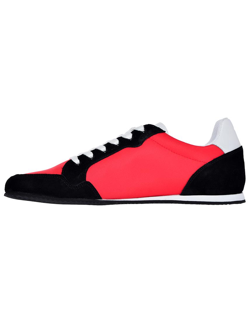 Фото 3 - мужские кроссовки  красного цвета