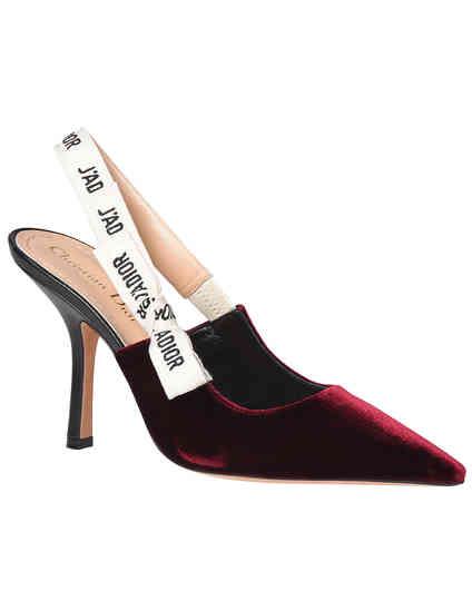 женские бордовые Босоножки Christian Dior KCC201VLR16V-1819_bordo - фото-2