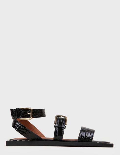 женские черные кожаные Босоножки Emporio Armani X3P725XF266-00002 - фото-5