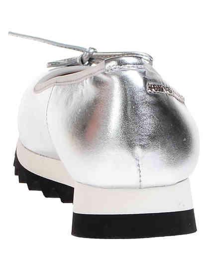 серебряные Балетки John Galliano 7906_silver размер - 36