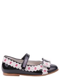 Детские туфли для девочек MOSCHINO 25355-black