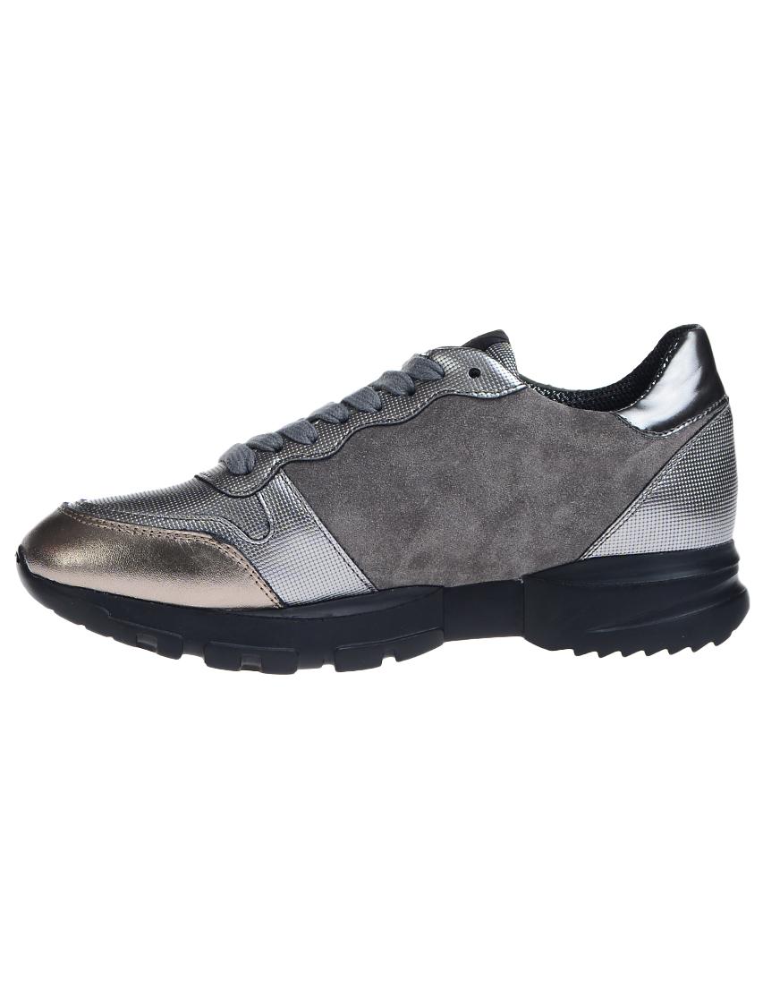 Замшевые серые кроссовки RICHMOND (ITALY)